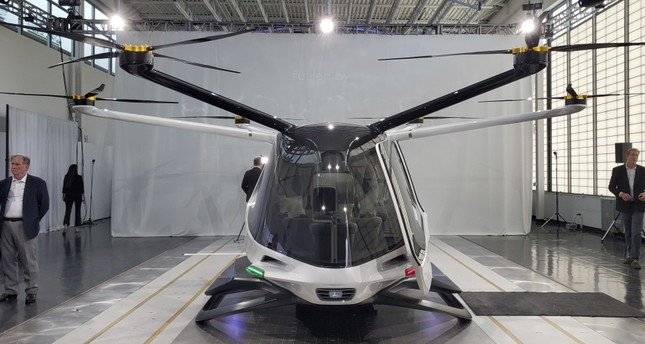 Alakai Technologies' hydrogen-powered air taxi, seen above, can carry up to five people.