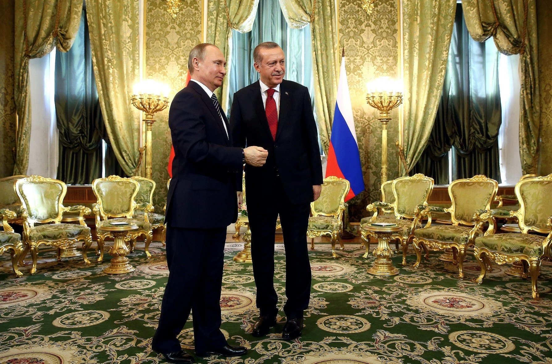 President Erdou011fan and Russian President Putin meets in the Kremlin Palace to discuss bilateral relations, March 10.