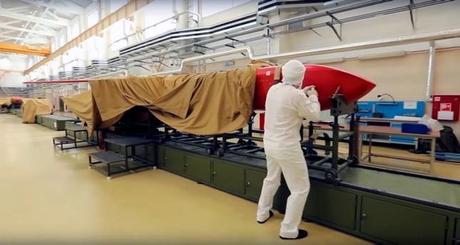 صورة نشرتها وزارة الدفاع الروسية عن مركز تطوير صواريخ بالستية (EPA)