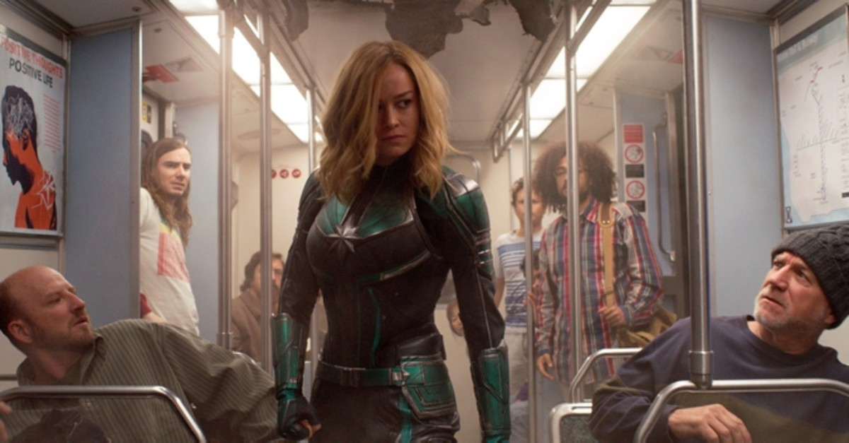 This image released by Disney-Marvel Studios shows Brie Larson in a scene from ,Captain Marvel., (AP Photo)