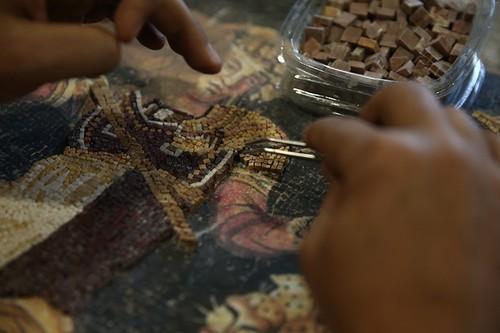 Learning the art of mosaic-making at Zeugma Mosaic Museum, southeast Turkey