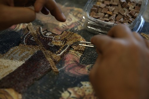 Learning the art of mosaic-making at Zeugma Mosaic Museum, southeast Turkey
