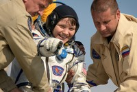 Canadian, Russian, American back on Earth after 204 days in space