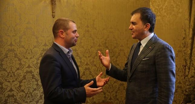 Daily Sabah's Yahya Bostan (L) and Ömer Çelik