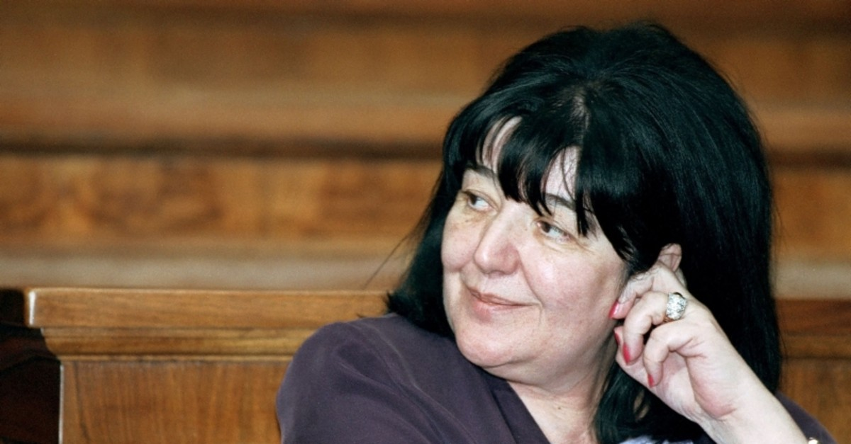 This photograph taken on July 25, 2001, shows Mirjana Markovic, the widow of late Serbian strongman Slobodan Milosevic during a parliament session in Belgrade. (AFP Photo)