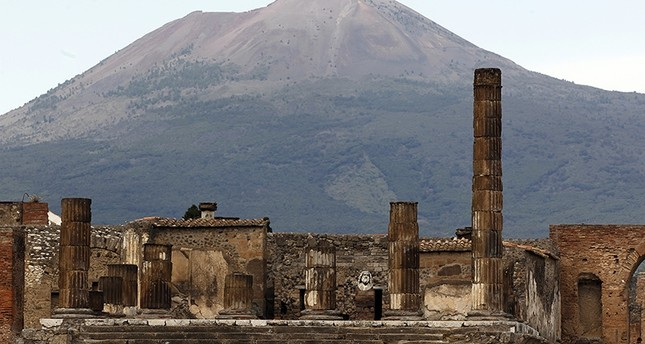 Mount Vesuvius looms over the ruins of Pompeii, destroyed by a volcanic eruption in A.D. 79. (Reuters Photo)
