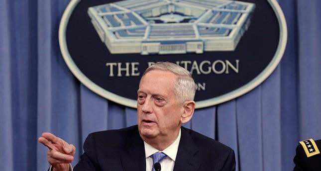 U.S. Defense Secretary James Mattis gestures to the media at the Pentagon in Washington, U.S., April 11, 2017 (Reuters Photo)