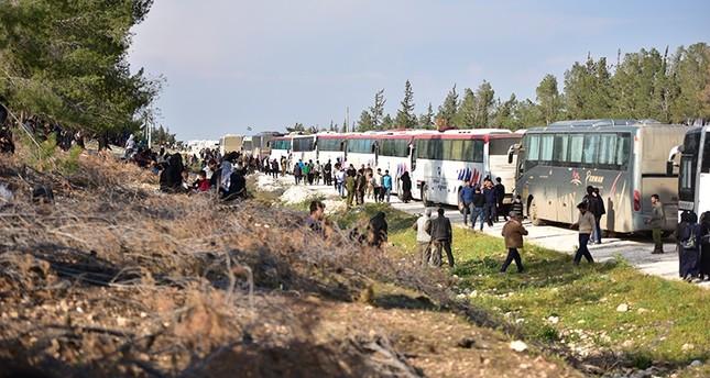 عدد مهجري الغوطة يرتفع إلى 65 ألفاً وقافلة جديدة تصل مناطق درع الفرات