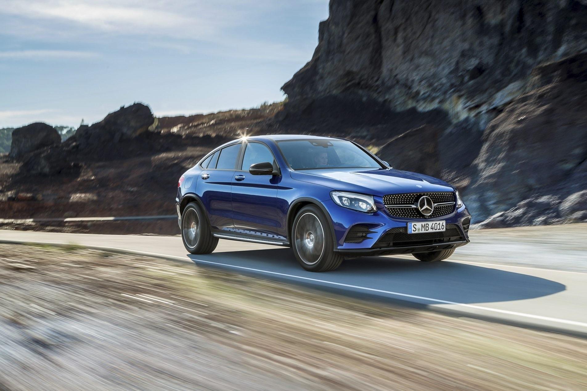 Photo shows Mercedes-Benz's GLC Coupu00e9 model  in color brilliant blue. (FILE Photo)