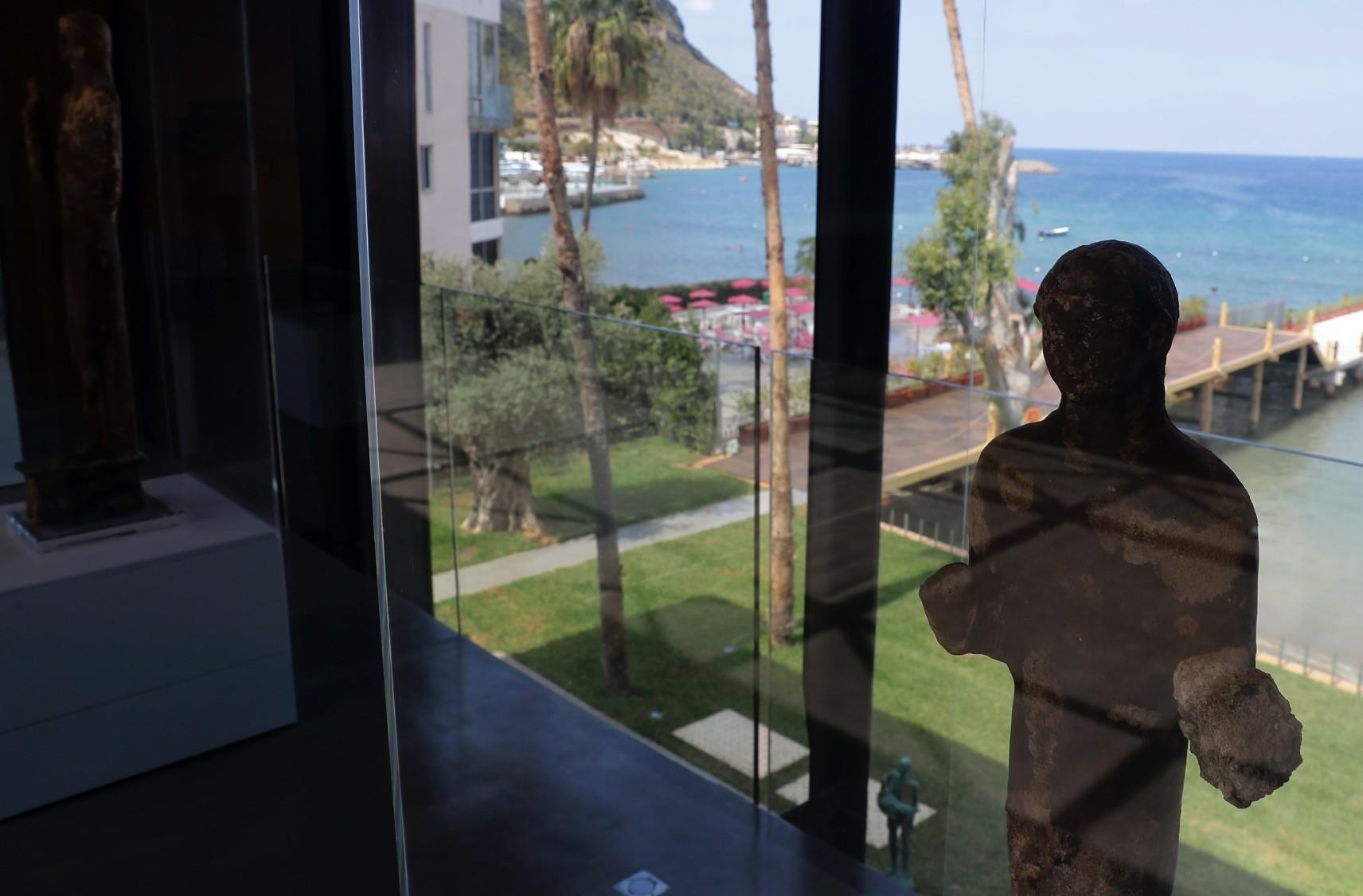 A view of Lebanon's Nabu Museum overlooking the Mediterranean Sea in the village of el-Heri.