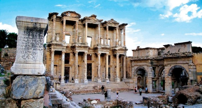 Ancient city of Ephesus in İzmir.