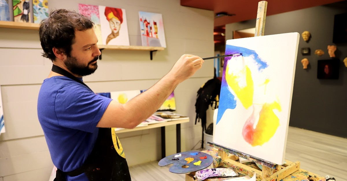 Painter Mehmetcan Yaman is one of the founders of Masterpiece.