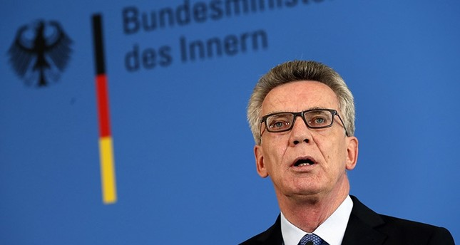 German Minister of the Interior Thomas de Maiziere speaks during a news conference about the riots related to the G20 Summit in Hamburg last week, in Berlin, Germany, 10 July 2017. (EPA Photo)
