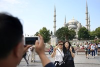The number of tourists visiting Turkey increased by 14.5 percent on year-on-year basis in the first half of 2017, Ministry of Culture and Tourism said Tuesday.
