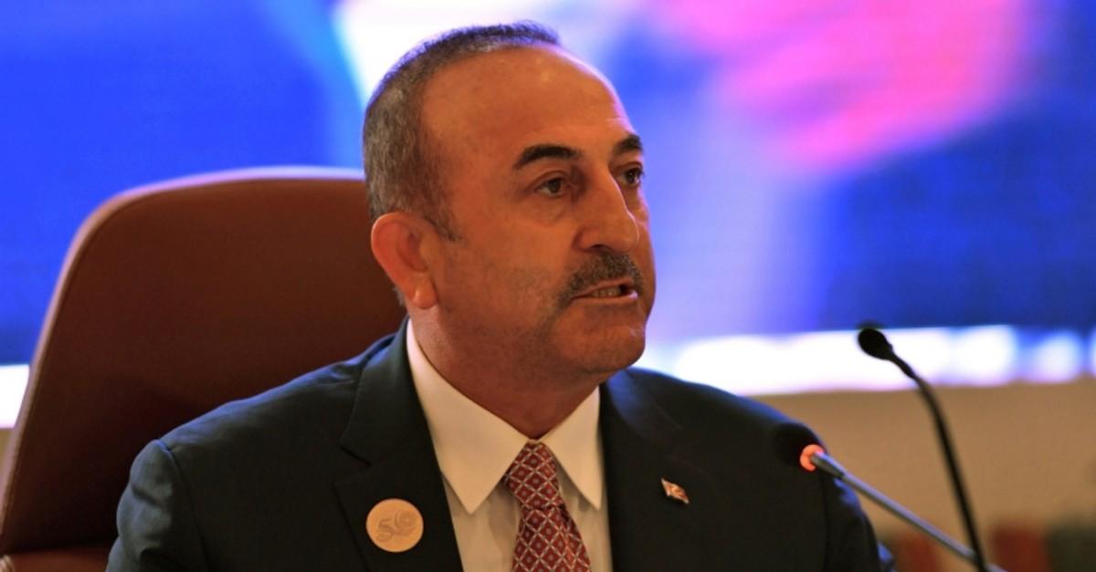Foreign Minister of Turkey Mevlu00fct u00c7avuu015fou011flu in Jeddah, Saudi Arabia, May 29, 2019. (Reuters Photo)