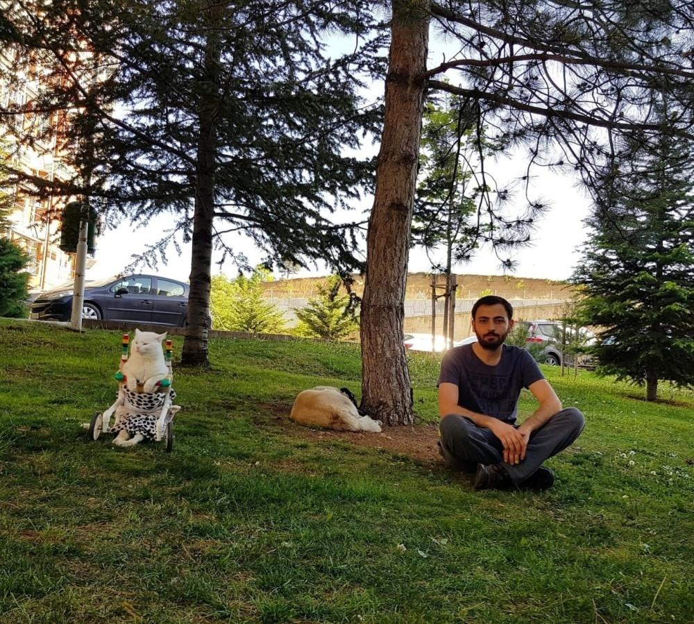 Koca Kafa and Eren Gu00fcder enjoy their free time at a park in Ankara.