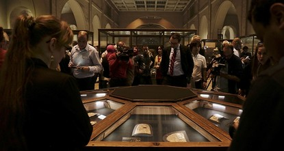 pEgypt opened an exhibition on Wednesday to display previously unseen treasures from King Tutankhamun's famed tomb./p