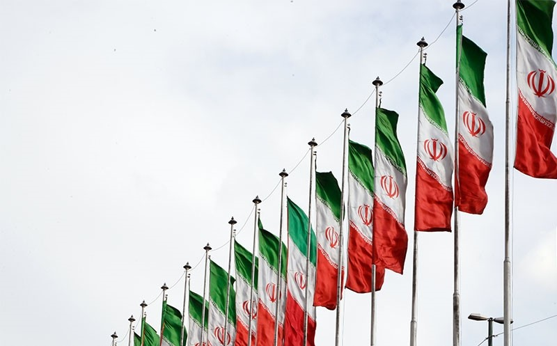Iranian national flags on a highway in the capital Tehran. (EPA Photo)
