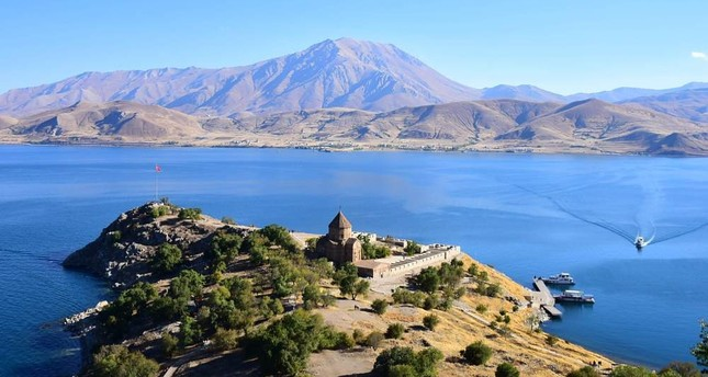 Akdamar Church situated on an island in Lake Van is a popular tourist destination.