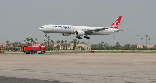 هبوط أول رحلة الخطوط الجوية التركية لمراكش (الأناضول)