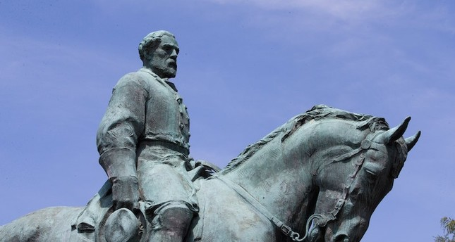 The Robert E Lee statue for which the 'Unite the Right' rally was organized to protest its removal in Charlottesville, Virginia, 13 August 2017. EPA Photo