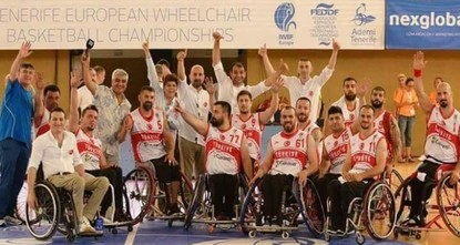 pTurkey beat Great Britain 76-69 in Spain's Tenerife late Friday, winning the European Wheelchair Basketball Championship./p  pThey took on Great Britain in the finals at 8:30 p.m. and had a...