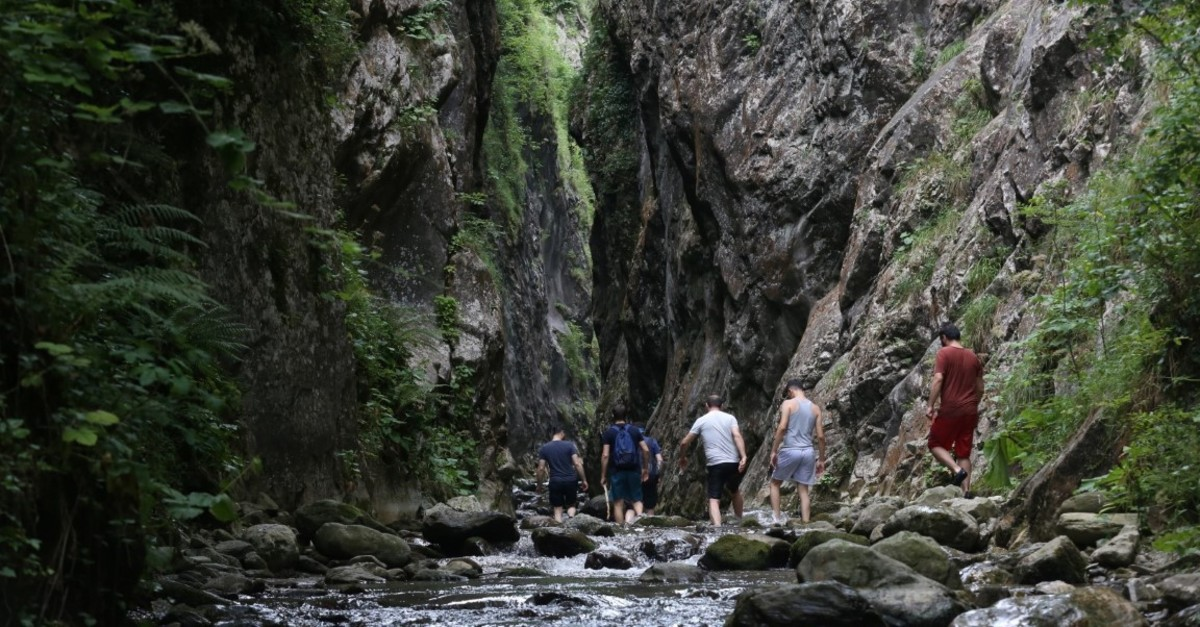 Serindere Canyon is known for its slippery trekking parkour.