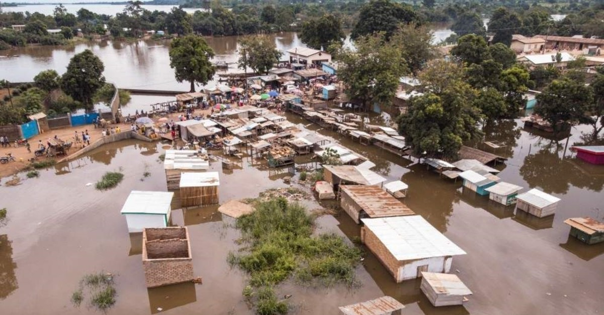 Neighborhoods totally flooded by water in Bangui, Central African Republic, Oct. 28, 2019. (AFP)