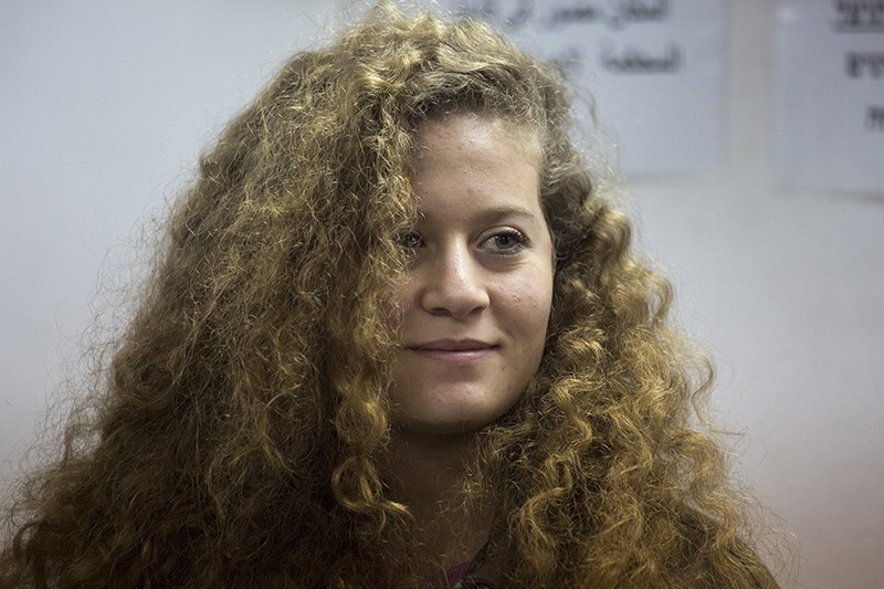In this Feb. 13, 2018 file photo, Palestinian protest icon Ahed Tamimi is in a courtroom at the Ofer military prison near Jerusalem. (AP Photo)