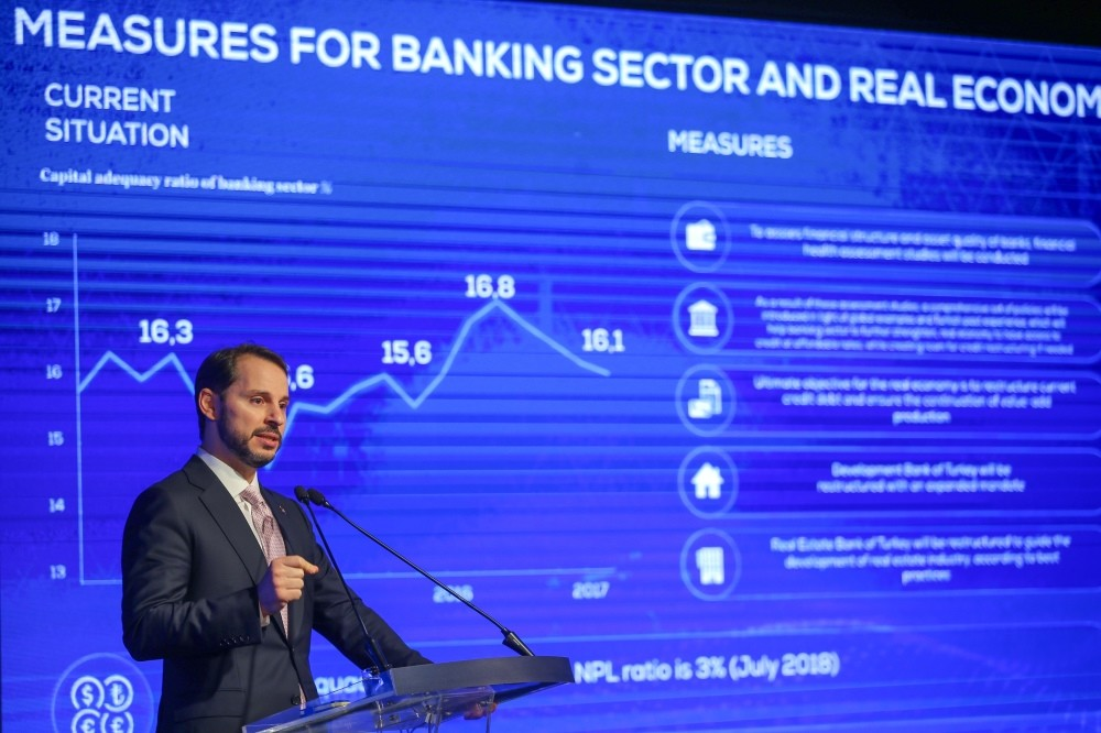 Treasury and Finance Minister Berat Albayrak unveiled the Turkish governmentu2019s new economic program covering goals and guidelines for the 2019-2021 period, Istanbul, Sept. 20.