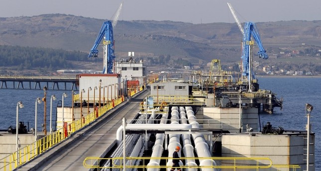 A view of Turkey's Mediterranean port of Ceyhan, which is run by state-owned Petroleum Pipeline Corporation (BOTAŞ), some 70 kilometers from Adana.