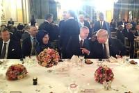 Erdoğan, first lady talk with Trump at dinner in Paris