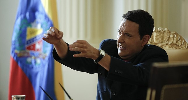 In this Jan. 25, 2017 photo, Colombia's actor Andres Parra impersonates Venezuela's former President Hugo Chavez during the filming of El Comandante in Bogota, Colombia. (AP Photo)