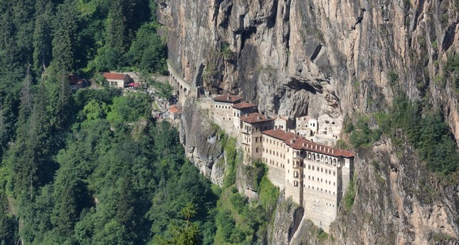 Built in the 4th century, Sümela Monastery is carved into the Mela Mountain in Maçka, Trabzon.