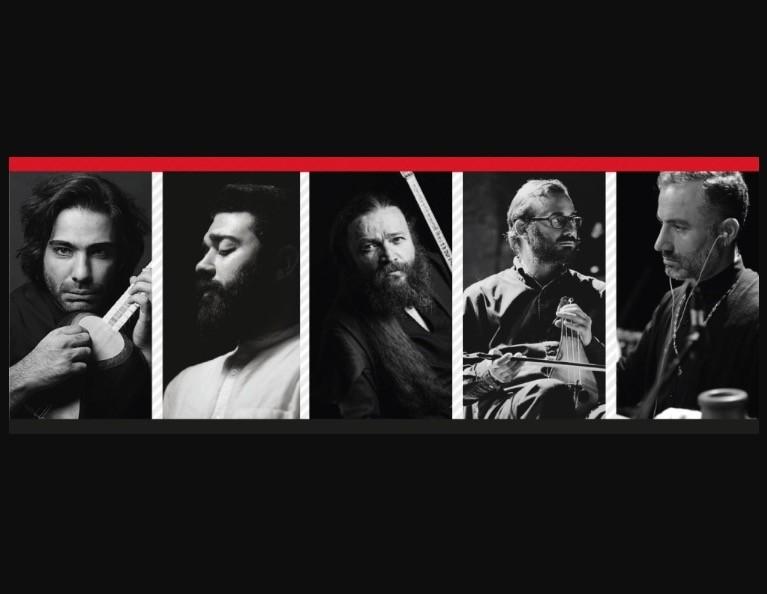 From left to right, Ali Ghamsari, Cou015fkun Karademir, u00d6zer u00d6zel, Derya Tu00fcrkan and guest musician u00d6mer Arslan.