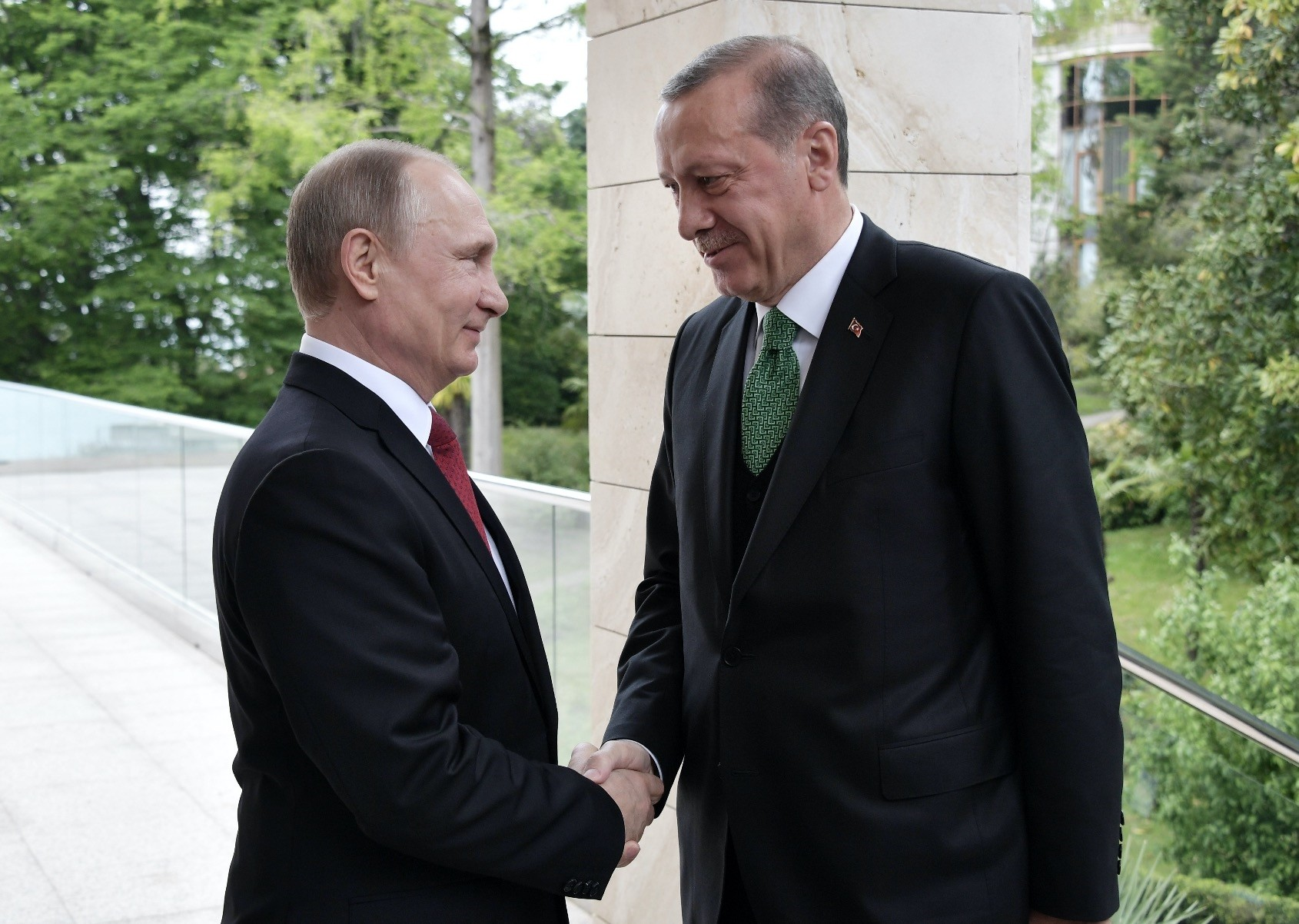 President Erdou011fan and Russian President Putin discussed the latest developments in war-torn Syria when they met in Ankara on Sept. 28.