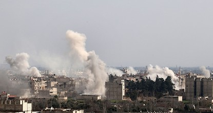 pIntense Assad regime shelling and airstrikes on opposition-held Damascus suburbs killed nearly 130 people in two days, marking some of the deadliest bombardment of the region in three years, a...