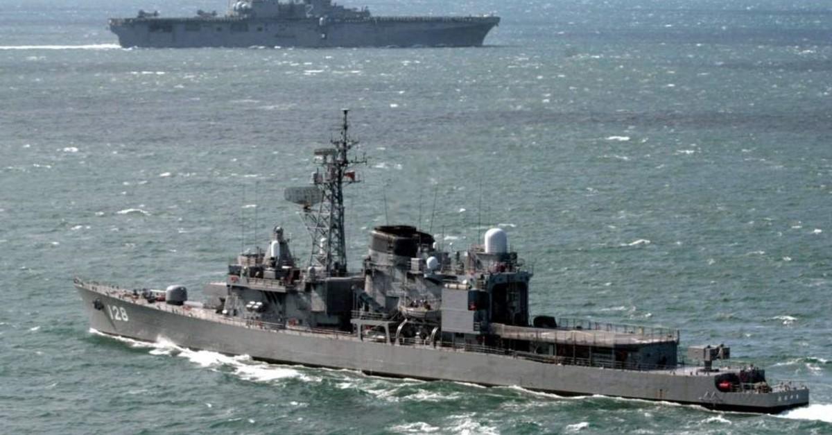 Japan's Maritime Self-Defence Force destroyer Haruyuki seen off Sasebo, southwestern Japan, Sept. 22, 2001. (Reuters Photo)
