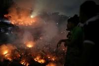 Massive fire in Bangladesh slum leaves 10,000 homeless