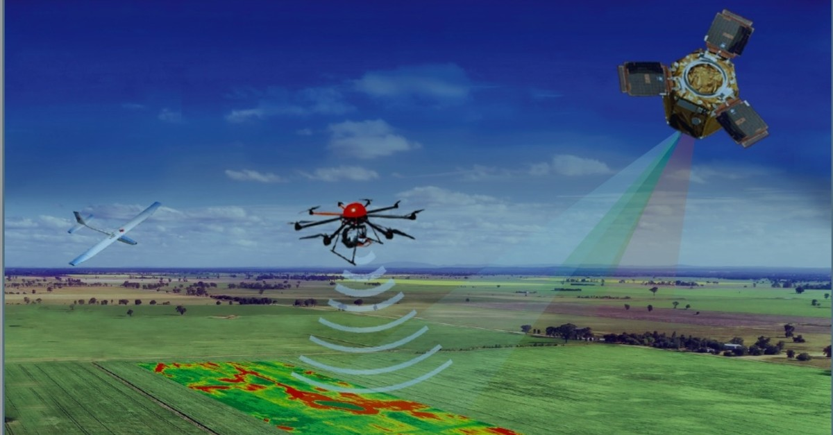 Drones and satellites are being used to capture images of agricultural areas for application of the project.