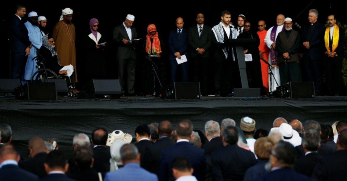 Names of victims of the mosque attacks are read out at the national remembrance service, at Hagley Park in Christchurch, New Zealand March 29, 2019. (Reuters Photo)