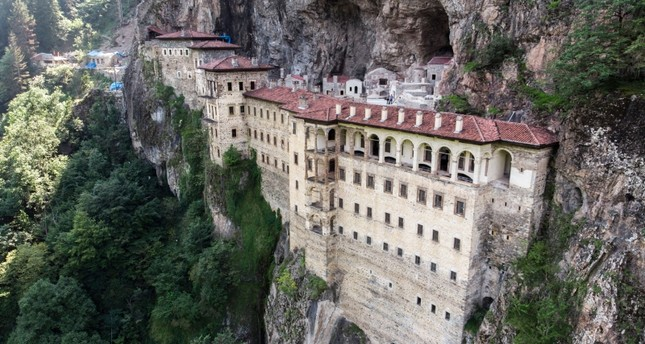 Sümela Monastery in Turkey's Black Sea province of Trabzon (Sabah File Photo)