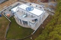 مركز أليانز تكنيك لاختبارات الزلازل والحرائق والتدريب على مكافحتها، في الجامعة التركية الألمانية في إسطنبول (الأناضول)