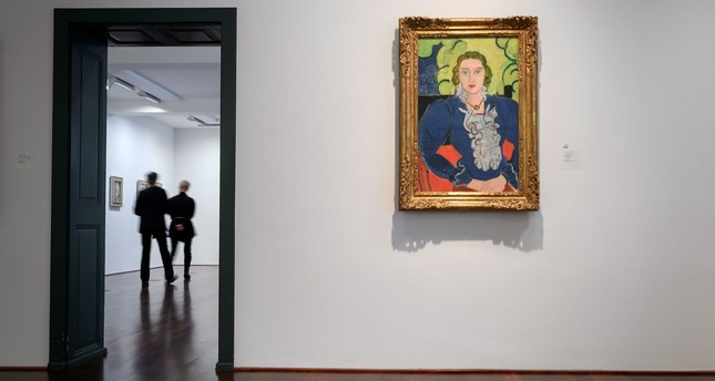 A painting by Henri Matisse entitled The Blue Blouse is seen at the Kunstmuseum Bern.