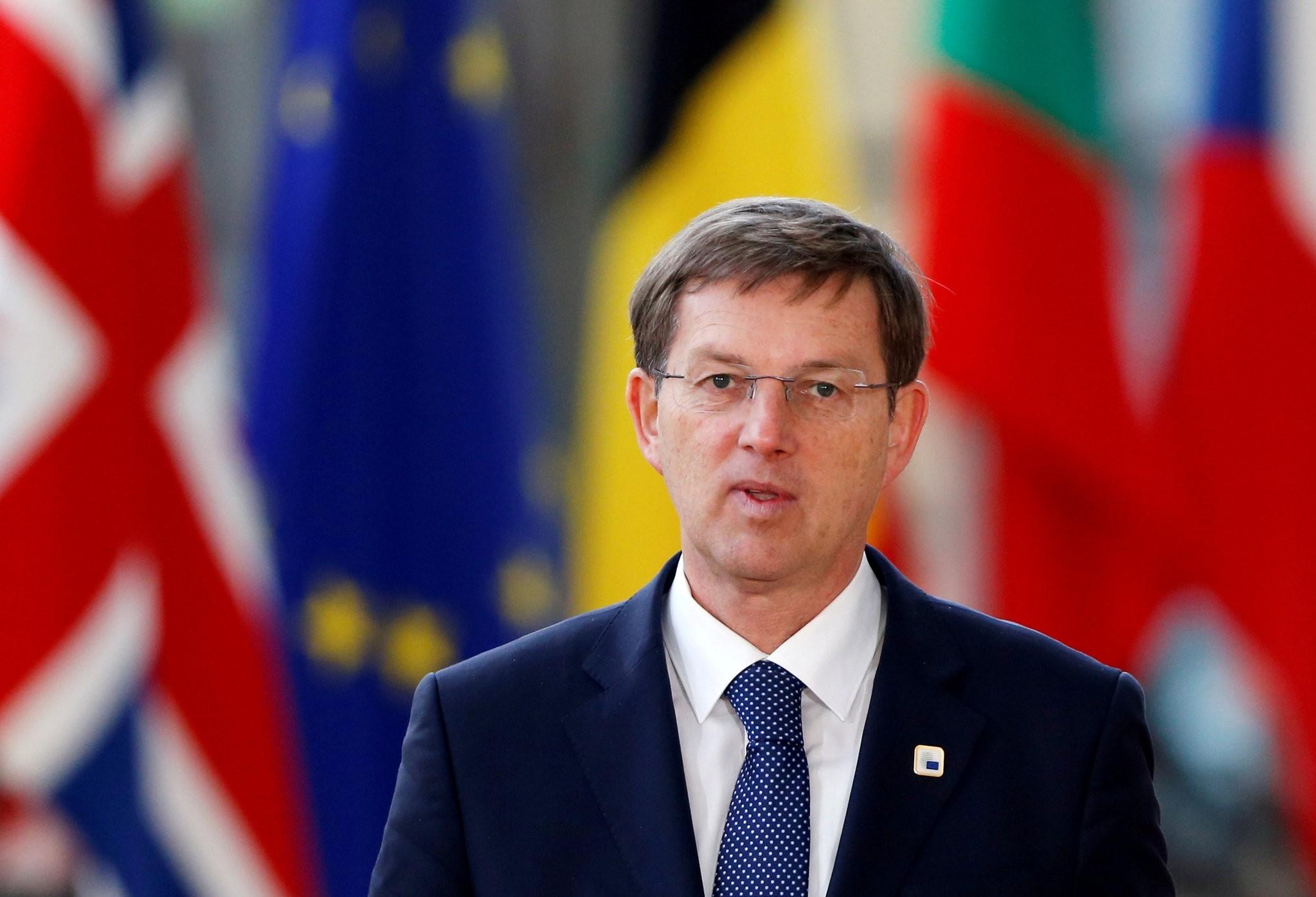 Slovenia's Prime Minister Miro Cerar arrives at a European Union leaders summit in Brussels, Belgium (Reuters Photo)