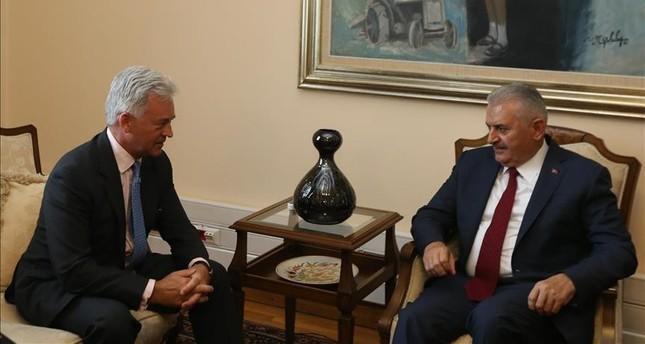 PM Yıldırım receives new UK Foreign Office minister Sir Alan Duncan