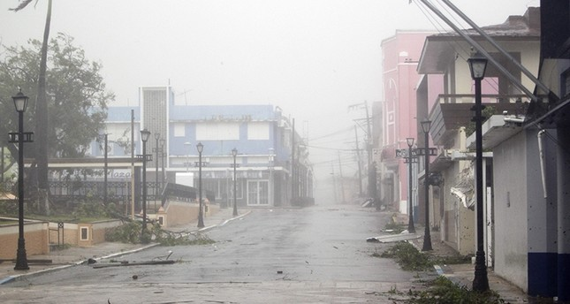 Hurricane Maria hits Puerto Rico in Fajardo. on September 19, 2017 (AFP Photo)