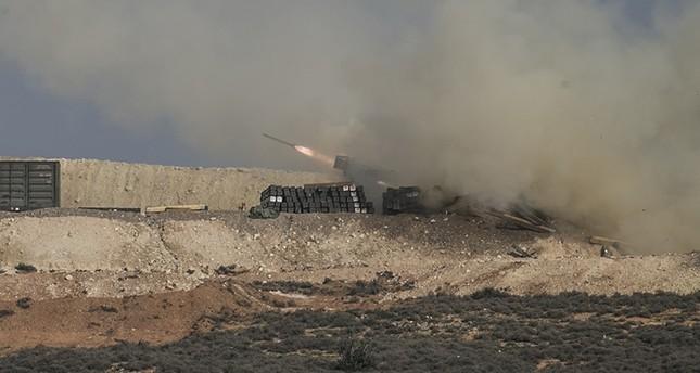 راجمات الصواريخ والمدفعية التركية تستهدف مواقع الإرهابيين في عفرين