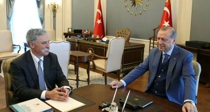 Präsident Erdoğan empfängt Formel-1-Boss