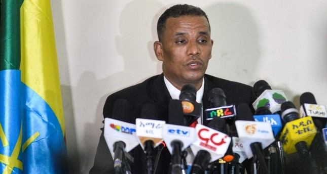 Ethiopia's Attorney General Birhanu Tsegaye speaks about the corruption and human rights violation reports in the country following the detention of 63 military and intelligence officers in Addis Ababa on Nov. 12, 2018. (AFP Photo)
